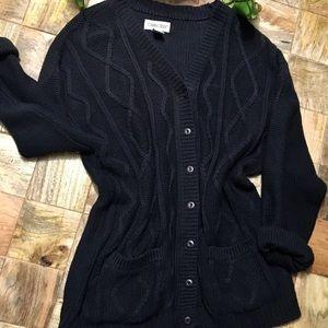 Cabin Creek Black knit cardigan sweater